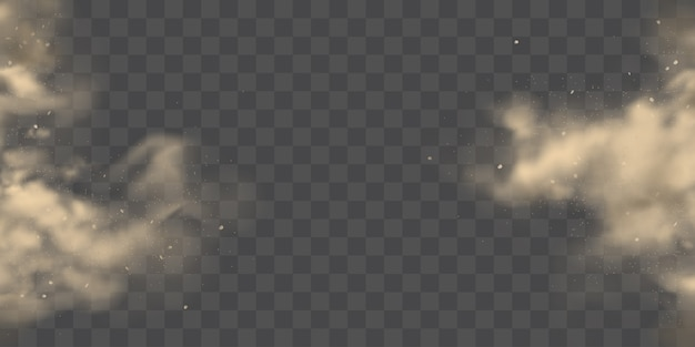 Pęknięcie z boku pyłu chmury realistyczny wektor