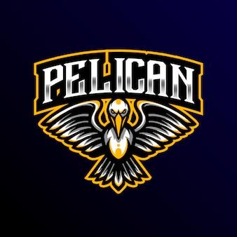 Pelikan maskotka logo esport gaming