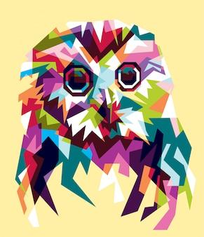 Pełna kolor ilustracja sowa