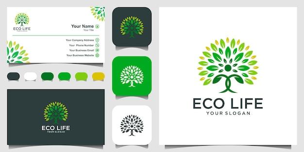 People tree logo design inspiracja projektowanie logo i wizytówka