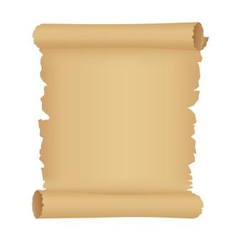 Pergamin lub stary zwój papieru. antyczne tło z miejsca na kopię.