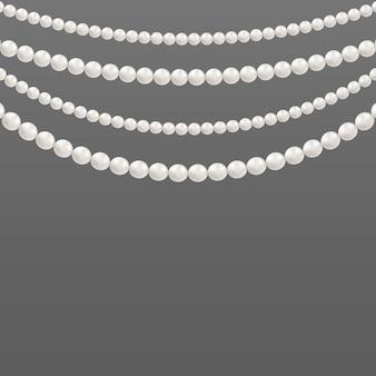 Perłowe glamour koraliki, wzory naszyjników.