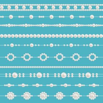 Perłowe koraliki glamour, wzory naszyjników.