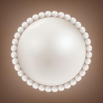 Perłowe koraliki glamour