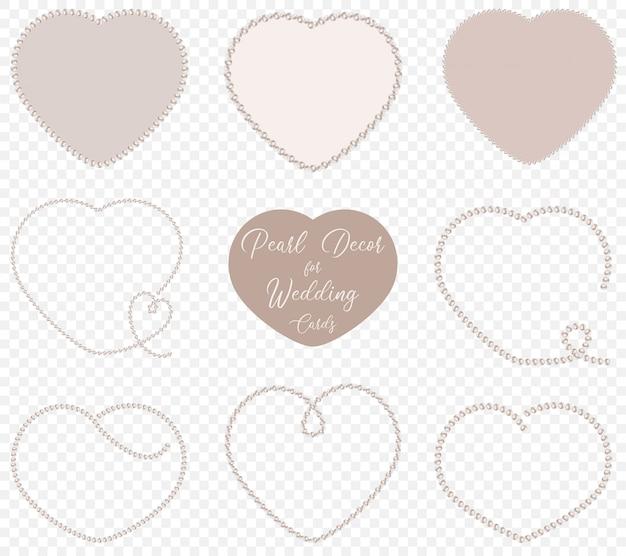 Perłowe kształty serca do dekoracji ślubnych