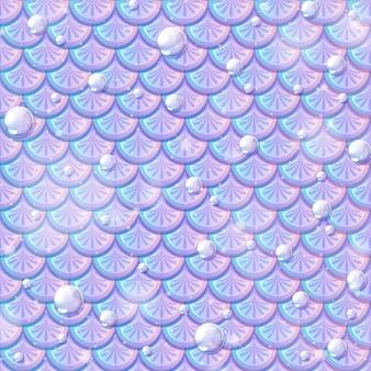 Perłowy syrenka łuski bez szwu wzór