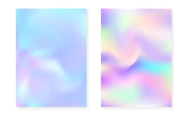 Perłowy tło z holograficznym gradientem.