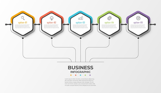 Persentacja szablonu biznesowego infografika