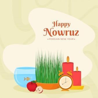 Perski nowy rok happy nowruz