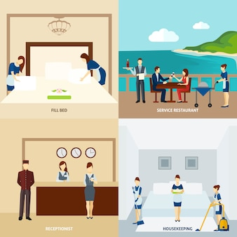 Personel hotelu flat