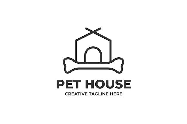 Pet house dog puppy minimalistyczne logo