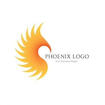 Phoenix sylwetka szablon logo