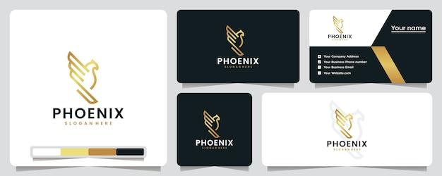 Phoenix, złoty, luksusowy, inspiracja projektem logo