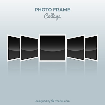 Photo frame collage polaroid concept