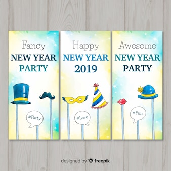 Photocall elements new year card collection
