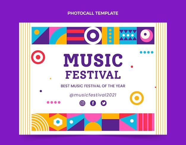 Photocall festiwal muzyczny z mozaiką o płaskiej konstrukcji