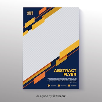 Photographic abstract flyer template