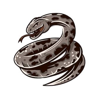 Phyton wektorowy ilustracyjny rysunek odizolowywający