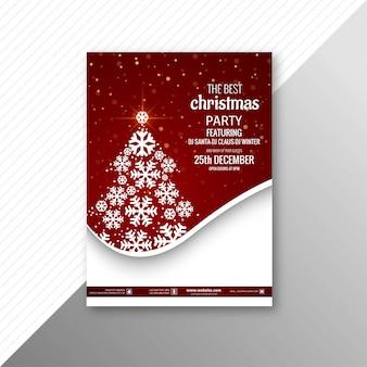 Piękna impreza poślubia boże narodzenie broszurki szablon
