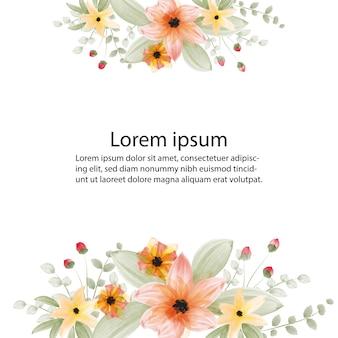 Piękna ramka kwiat
