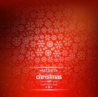 Piękna wesoło kartka bożonarodzeniowa z płatka śniegu tłem