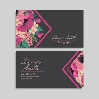 Piękna wizytówka kwiatowy wzór