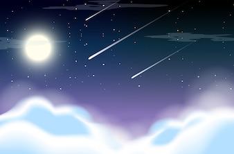 Piękne niebo w nocy