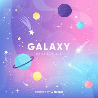 Piękne tło galaktyki z Płaska konstrukcja
