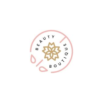 Piękno boutique projektowanie logo ilustracja