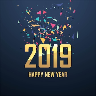 Piękny 2019 nowy rok karty świętowania tła wektor