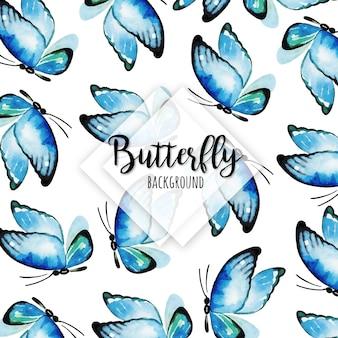 Piękny Akwarela Motyli Tło