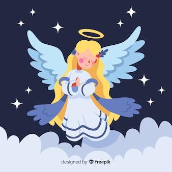 Piękny anioł Boże Narodzenie z Płaska konstrukcja