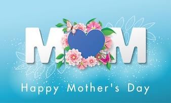 Piękny baner Kartkę z życzeniami szczęśliwego dnia matki