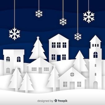 Piękny Boże Narodzenie tło w stylu papieru