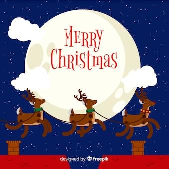 Piękny Boże Narodzenie tło z Płaska konstrukcja
