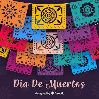 Piękny dia De Muertos tło