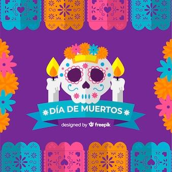 Piękny día De Muertos tło