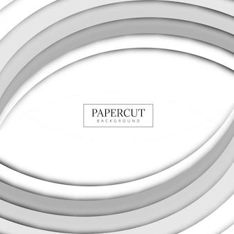 Piękny Papercut popielaty falowy tło