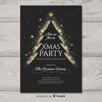 Piękny plakat szablon strony Bożego Narodzenia