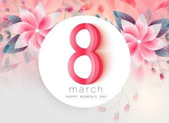 Piękny pozdrowienie projekt dnia kobiet