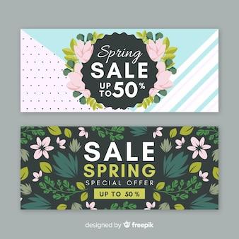Piękny transparent sprzedaż wiosna