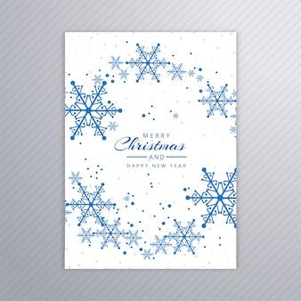 Piękny wesołych świąt party plakat