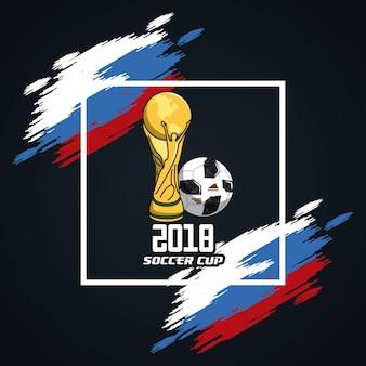 Piłka nożna puchar świata na Russia kolorach