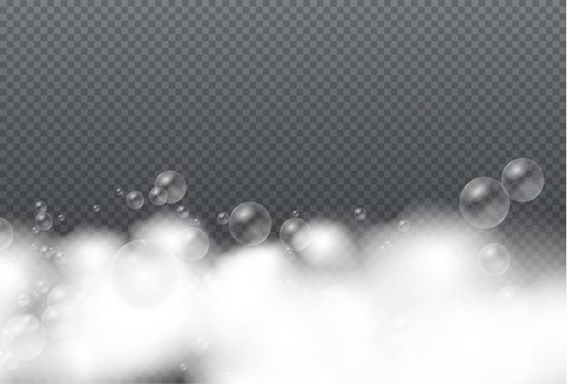 Pianka mydlana na białym tle