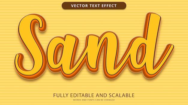 Piaskowy efekt tekstowy edytowalny plik eps