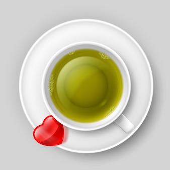 Picie filiżanki herbaty
