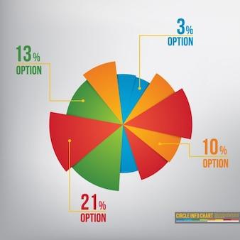 Pie szablonu wykresu infografika