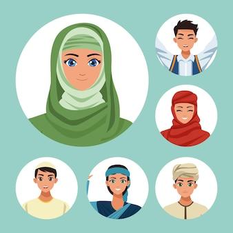 Pięć arabskich osób