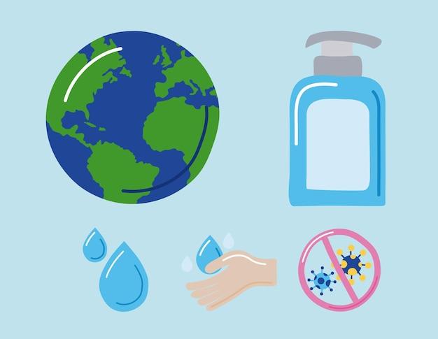 Pięć globalnych ikon dnia mycia rąk