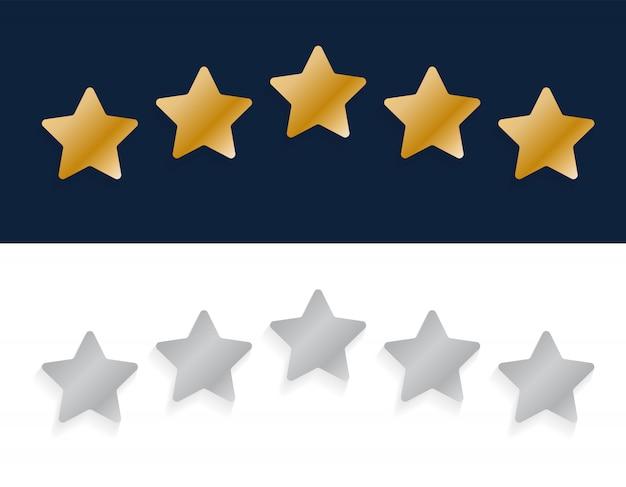 Pięć gwiazdek ocena jakości